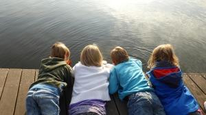 Kids enjoying the present moment
